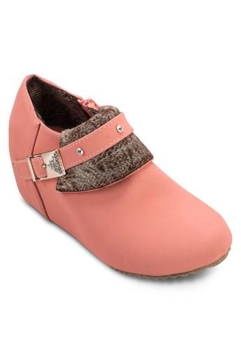 閃飾毛呢內增esprit招聘高踝靴, 女鞋, 鞋