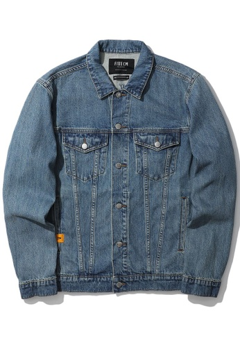 Fivecm navy Washed denim jacket 85DB8AAC5FC1D1GS_1