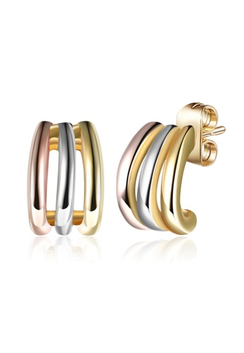 Kings Collection gold Elegant simple 3 color mix earrings 08198ACC29301FGS_1