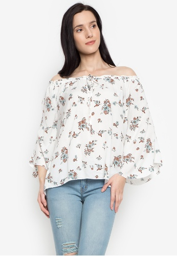 NEXT white Off Shoulders Ruffles Top 34363AABB34F9FGS_1