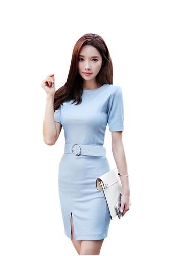 Sunnydaysweety blue 2017 S/S Elegant Blue One-Piece Dress UA050542 SU219AA17DWSSG_1