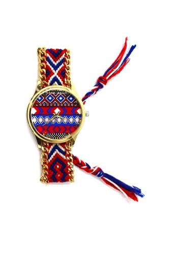 World of Watches multi Ethnic Pattern-C Crochet Strap Watch 003 WO566AC23UEEPH_1
