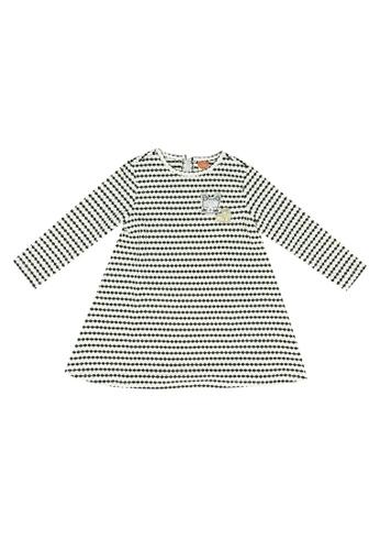 KOTON black Textured Bubble Print Dress 7BC7DKA62134B0GS_1