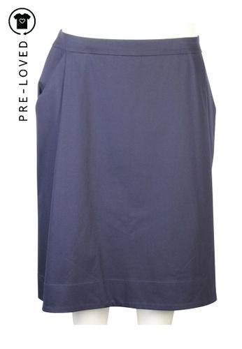 Jil Sander blue Pre-Loved jil sander Knee - Length Skirt 19B8AAA2872714GS_1