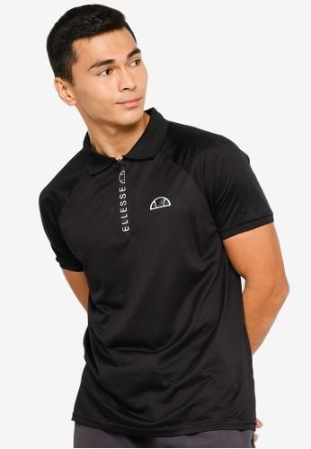 Ellesse black Rischio Polo Shirt A964EAAFAF1333GS_1