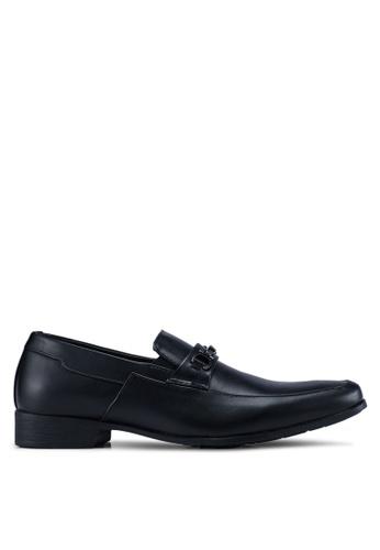 Louis Cuppers black Buckle Detail Formal Shoes 2887ESHC1B5D72GS_1
