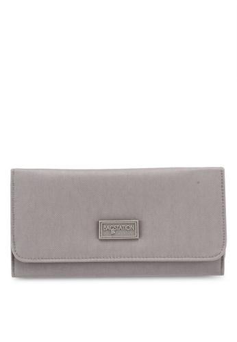Bagstationz brown Crinkled Nylon Bi-Fold Wallet 217C6AC1FADF27GS_1