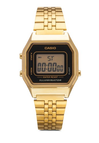 LA-esprit台灣官網680WGA-1DF 復古風電子鍊錶, 錶類, 飾品配件