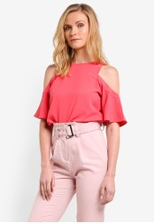 ZALORA pink Essential Cold Shoulder Top 41024ZZBB6A469GS_1