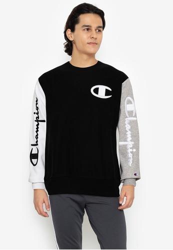 Champion black Reverse Weave Colorblock Crew Pullover 24307AA20CCEB2GS_1