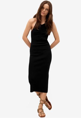 Mango black Fitted Jersey Dress 27EAFAAF96668CGS_1