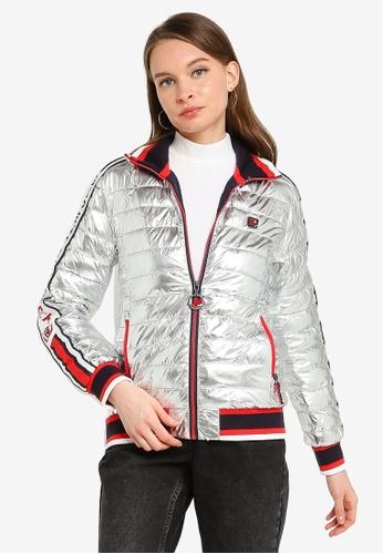 SUPERDRY silver Liquid Fuji Racer Track Jacket E293AAAB89EC89GS_1