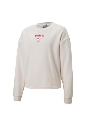 PUMA pink Alpha Crew Neck Girls' Sweater 326DBKA492BEFEGS_1