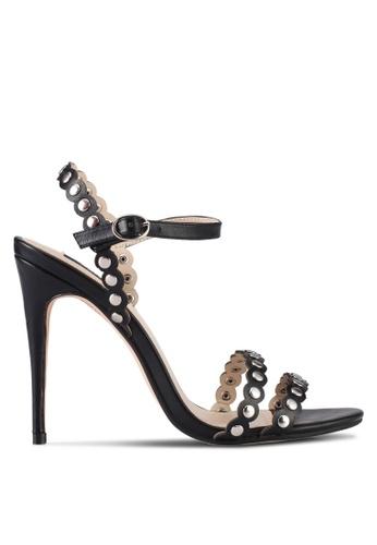 ZALORA 黑色 Studdy Strappy Heels C59C7SHD5C8B6DGS_1