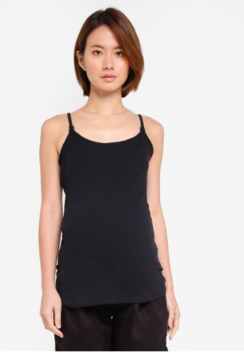 JoJo Maman Bébé 黑色 孕婦裝 細肩帶背心 92715AA53A909EGS_1