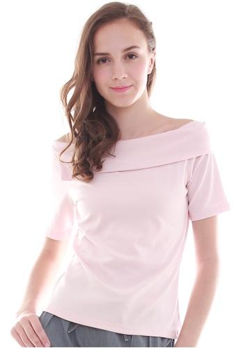 JOVET pink Off-Shoulder Top JO914AA73XCOSG_1