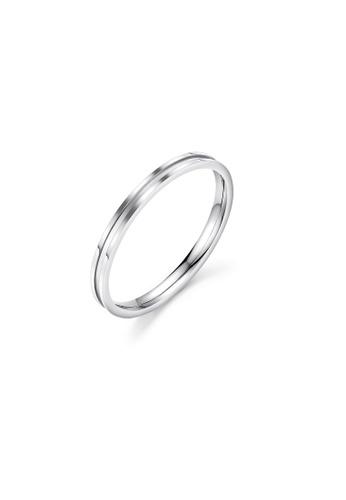 ADORA silver Stainless Steel Silver Ring E8923ACC1E6065GS_1