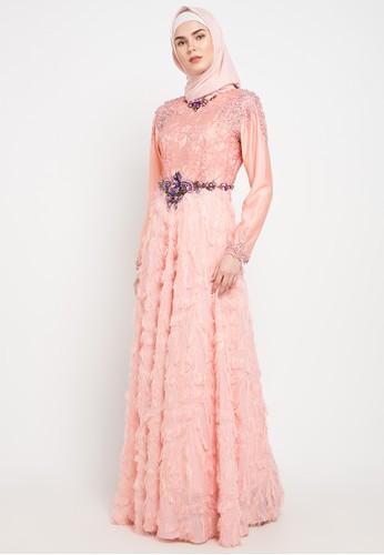 LUIRE by Raden Sirait orange Priyanca Dress 6F41DAA5464560GS_1