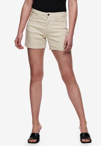 JACQUELINE DE YONG beige Lara Skinny Fit Shorts DB62FAA68D20F0GS_1