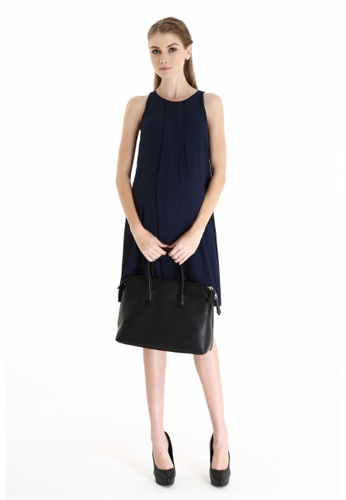 Bove by Spring Maternity navy Woven Sleeveless Carmene Fringe Dress Navy IDN2905 BO010AA0FKHTSG_1