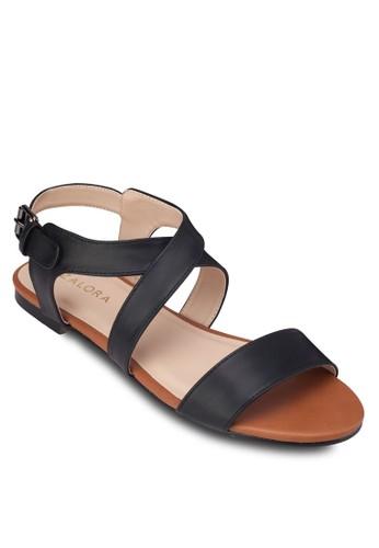 交叉繞踝平底涼鞋, zalora 評價女鞋, 涼鞋