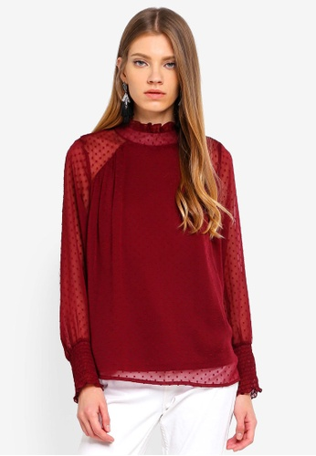 ONLY red Sunny Dobby L/S Top C754BAA2BF9C47GS_1