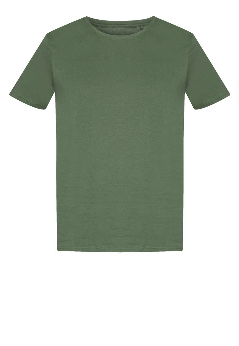 T Dark Khaki Shirt Burton London Menswear Green Crew Neck fcqSWga