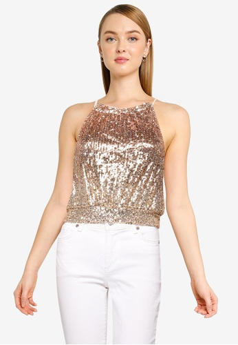 Free People 褐色 Lights Out Halter Top 6564BAACF661D6GS_1