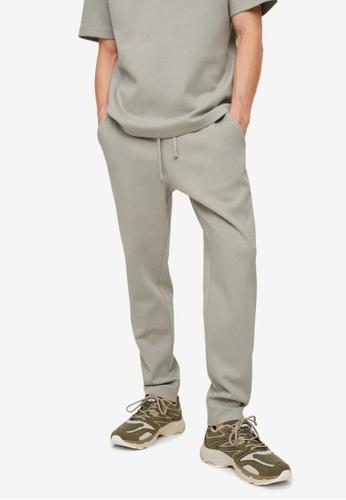 MANGO Man green Cotton Jogger-Style Trousers 667E7AAEB82D27GS_1