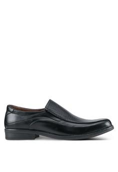 經典質感拼接無鞋帶皮鞋