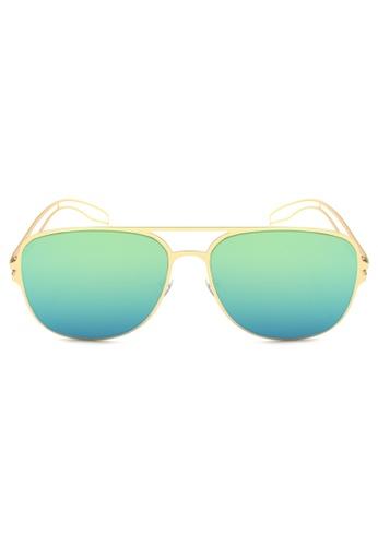 Maldives Eyewear blue and gold Derrick Rose Flat Lens Lightweight Frame Trendy Sunglasses 930-11-Y MA573GL31SYQPH_1
