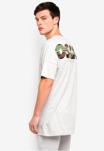 Cotton On 灰色 Drop Shoulder Longline Shirt 6187BAA0344F83GS_1
