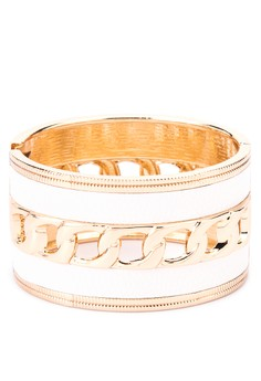 Bangle with Leather