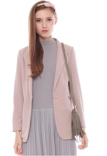 JOVET pink Classic Blazer 5EDEBAA81850CBGS_1