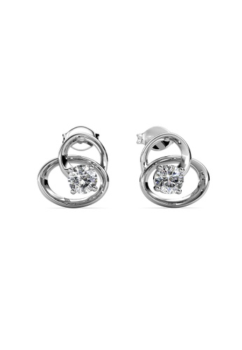 Her Jewellery silver Harmony Earrings -  Made with premium grade crystals from Austria HE210AC0H96BSG_1