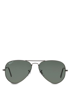 7d9ec7e39d7 Ray-Ban Aviator Large Metal RB3025 Polarized Sunglasses RA370GL44SADSG 1