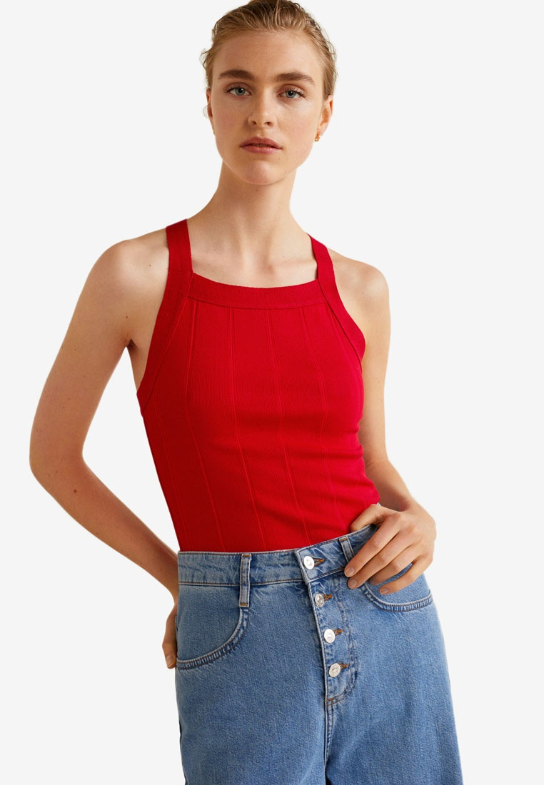 Ribbed Top Red Mango Ribbed Top Red Mango Z7qwUdEx