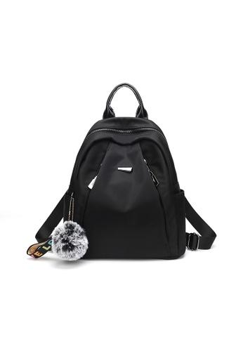 Lara black Women's Solid Colored Backpack DDCCEACB94CDBAGS_1