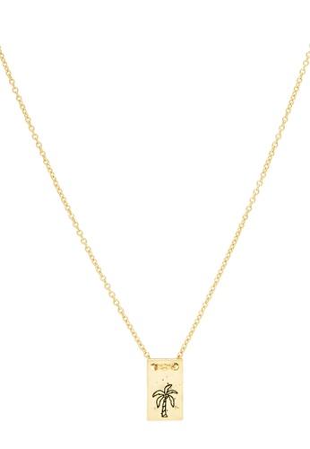 Dear Addison gold Tropics Necklace 19888AC292FFF8GS_1