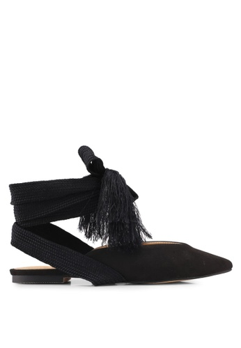 ZALORA black Lace Up Mules 58355SH67EC2C0GS_1