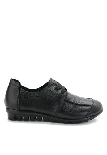 Twenty Eight Shoes 黑色 軟牛皮舒適鞋 VC668 09F23SHD1A3128GS_1