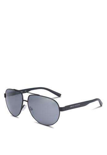 Armani Exchange black Black AX2022S Sunglasses AR162GL0RKWRMY_1