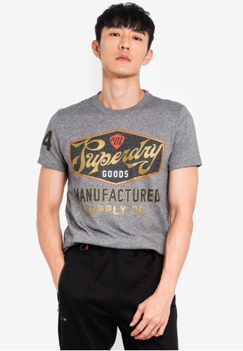 Superdry 灰色 Heritage 經典T恤 8C651AA2B9AEEEGS_1