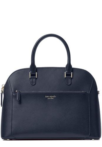 Kate Spade navy Kate Spade Louise Medium Dome Satchel Bag in Nightcap 4588CACFFAF546GS_1