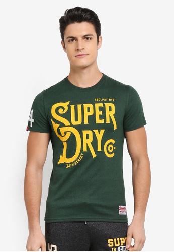 Superdry green 34TH STREET TEE 0DC8BAA5F22C9CGS_1