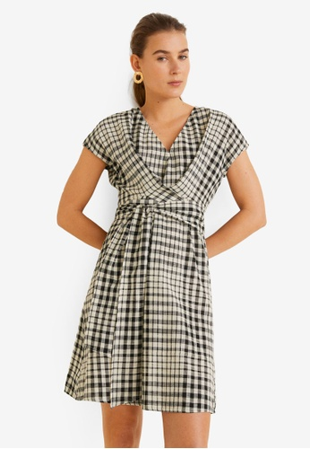 Buy Mango Checked Cotton Dress Online on ZALORA Singapore 1b52a03c65938