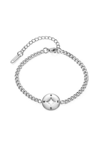 CELOVIS silver CELOVIS - Journey Compass Pendant Bracelet in Silver 421EFACED1FFBCGS_1