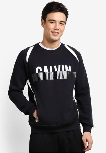Calvin Klein black Haldi Crew Neck Knit Sweater - Calvin Klein Jeans CA221AA06DSZMY_1