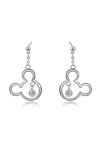 Kings Collection silver Silver Mickey Shape Earrings 36527AC10880FAGS_1