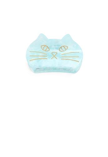 Glamorousky blue Fashion Cute Blue Cat Hair Claw 39DEEAC4FBCCC7GS_1